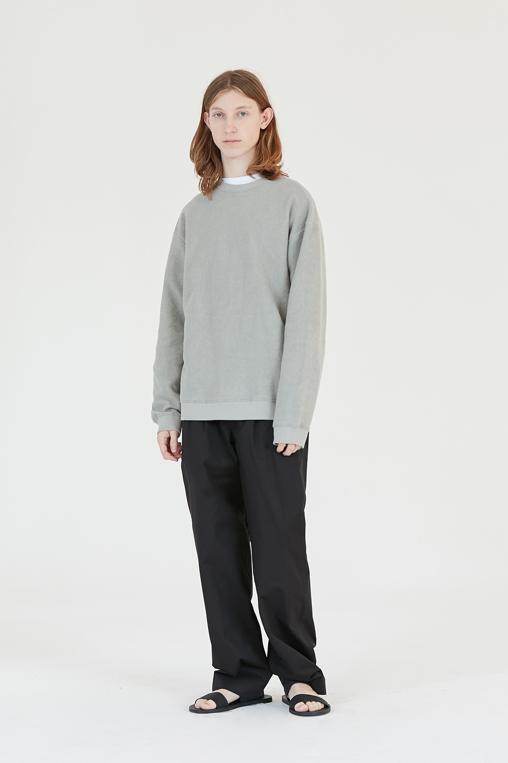 Reverse Sweatshirt Men [Mint Grey]