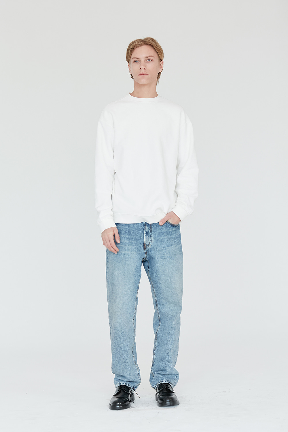 Reverse Sweatshirt Men [White]