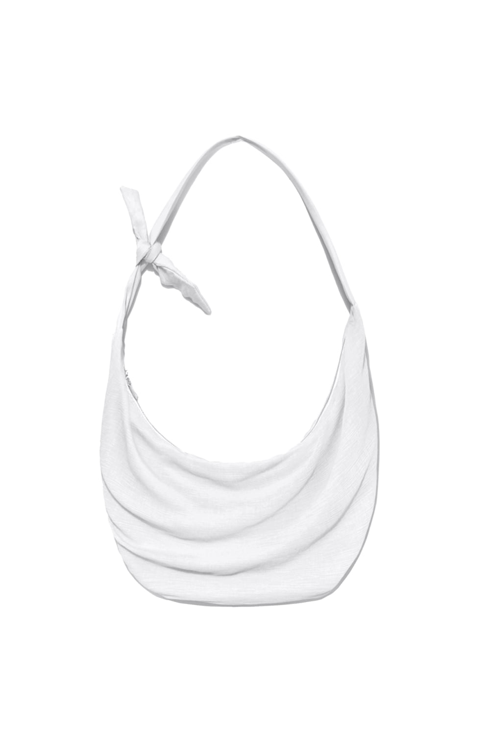 Knot Pleats Cross Bag Women [White]