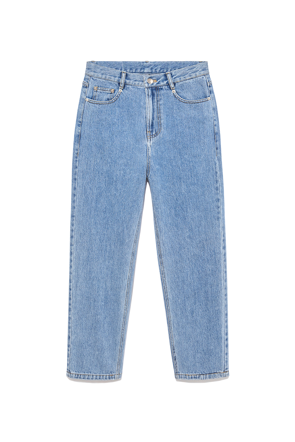 Highwaist Denim Pants Women [Blue]