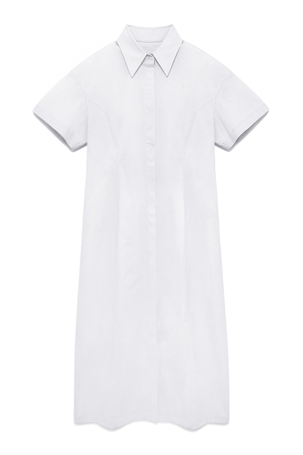 Curve Shirts Dress Women [White]