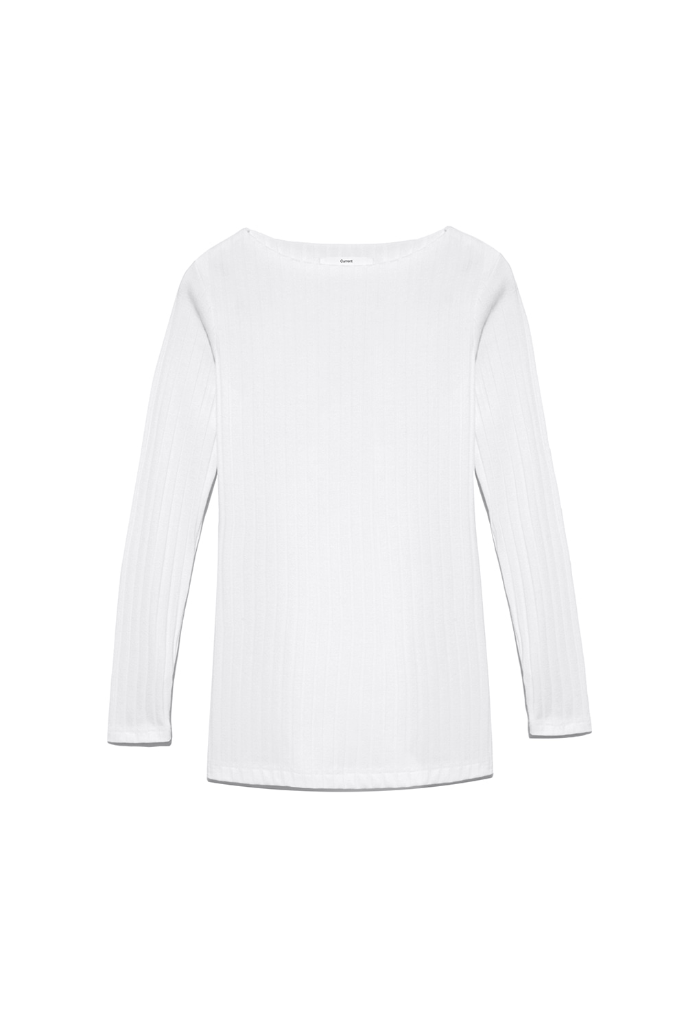 Slit Long Sleeve Tee Women [White]