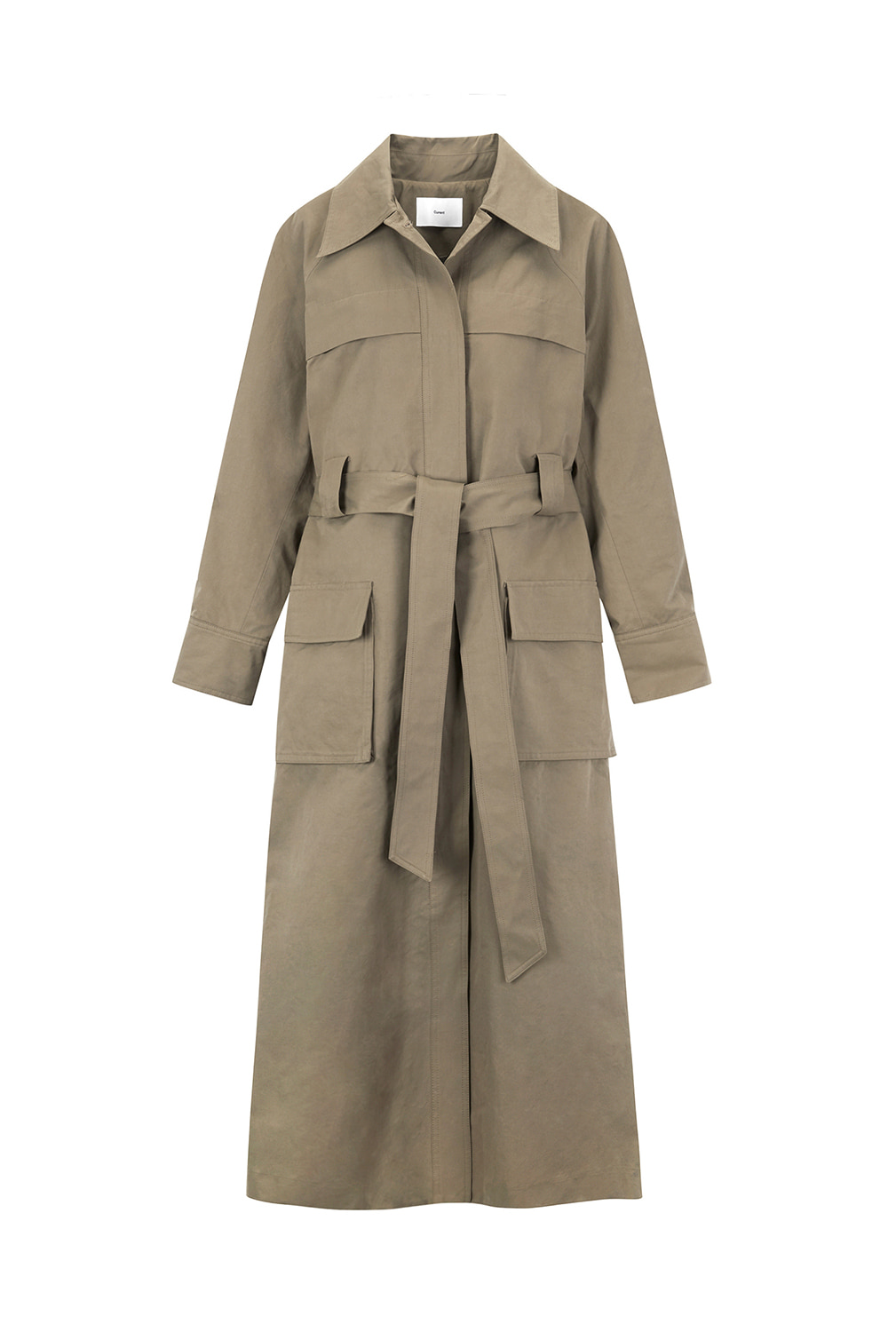 Pocket Trench Coat Women [Dark Beige]