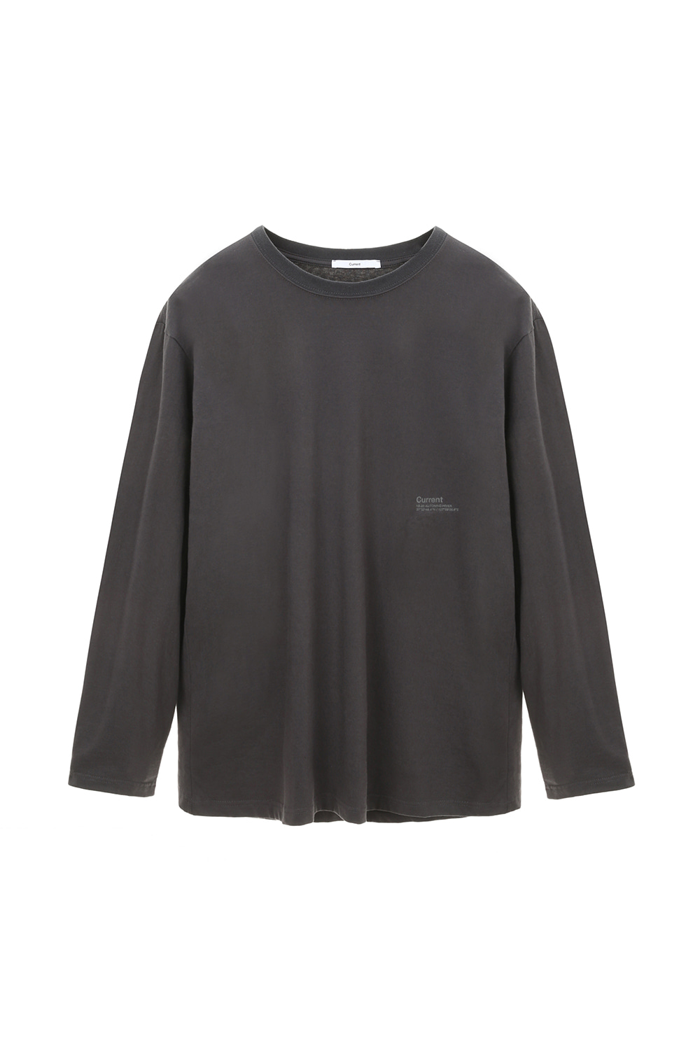 Logo Long Sleeve Men [Charcoal Gray]