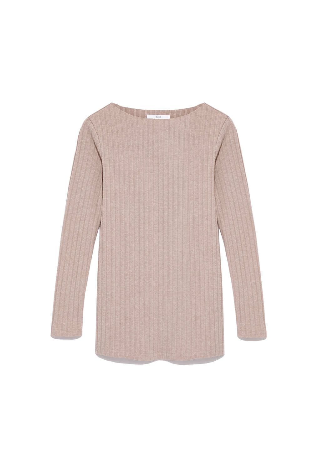 Slit Long Sleeve Tee Women [Beige] -50%