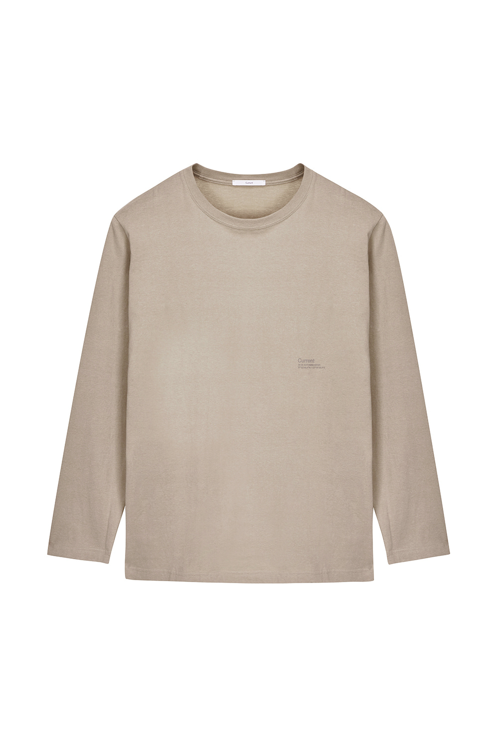 Logo Long Sleeve Men [Beige]