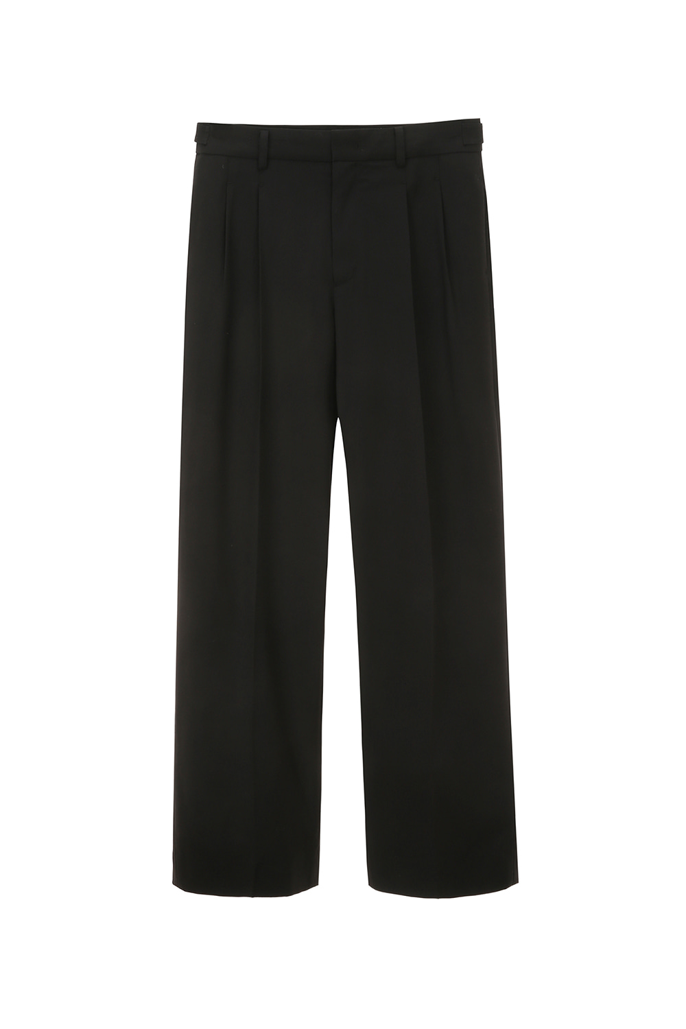 Two Pleated Pants Men [Black]