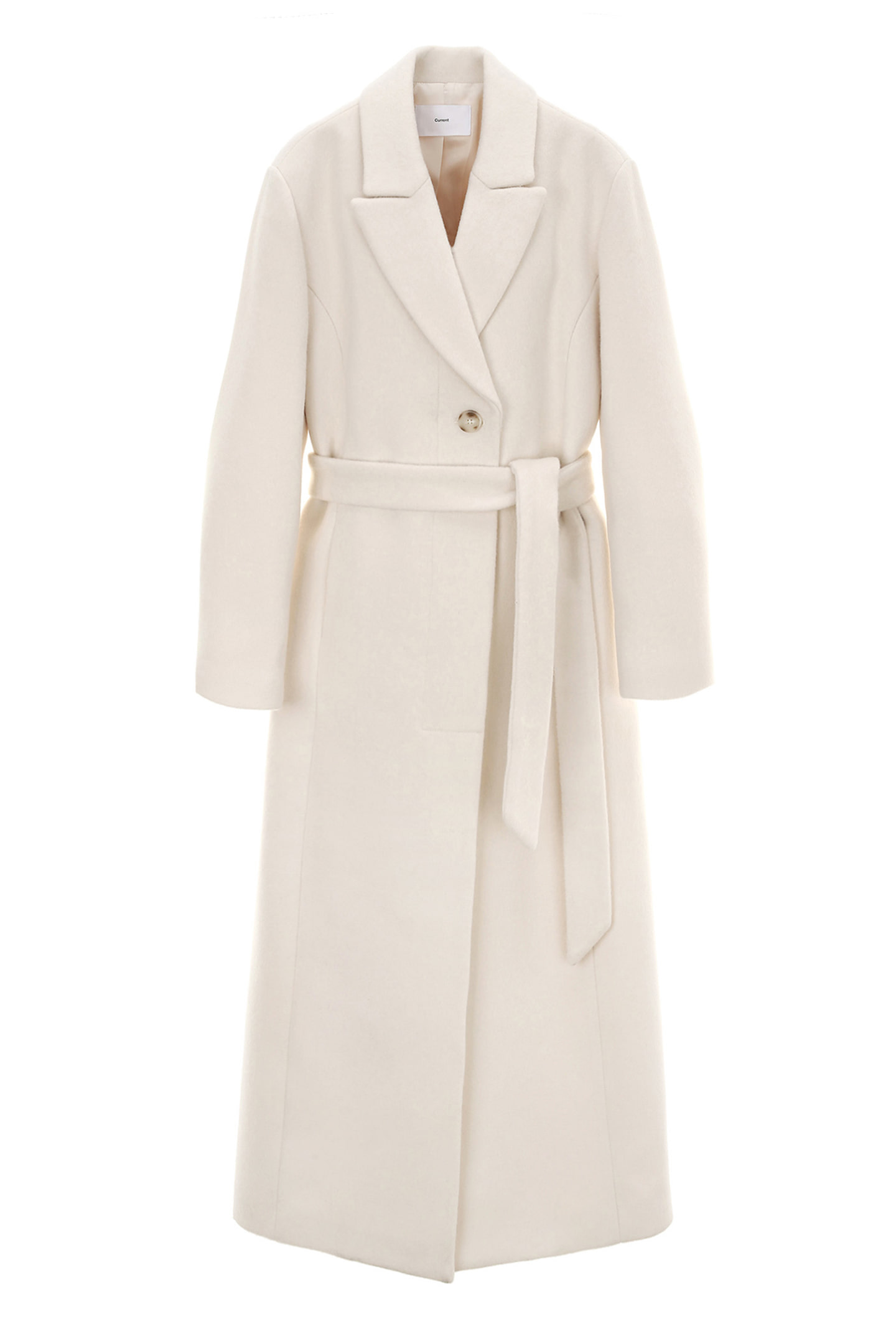 Belted Single Coat Women [Cream]