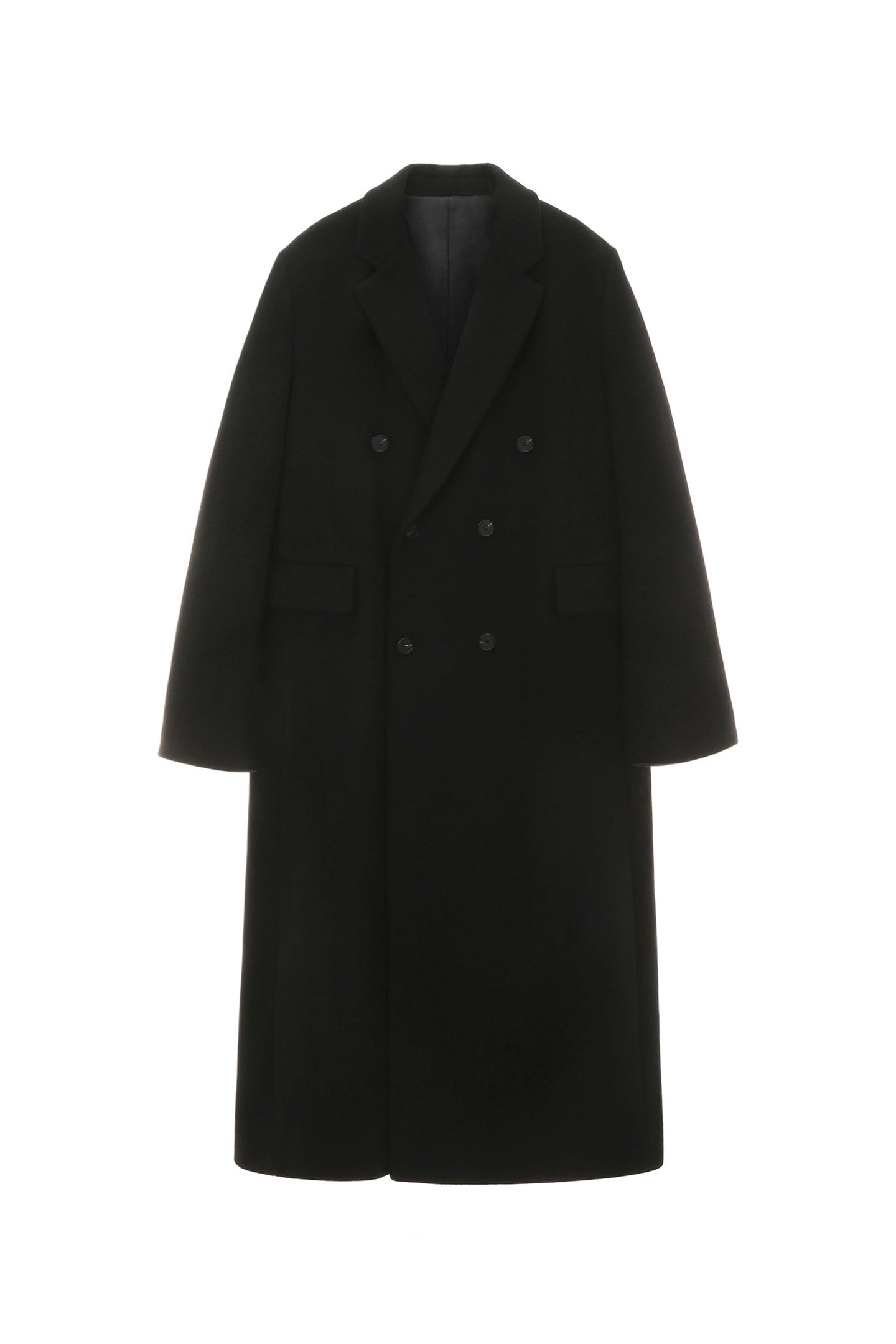 Cashmere Double Coat Men [Black]