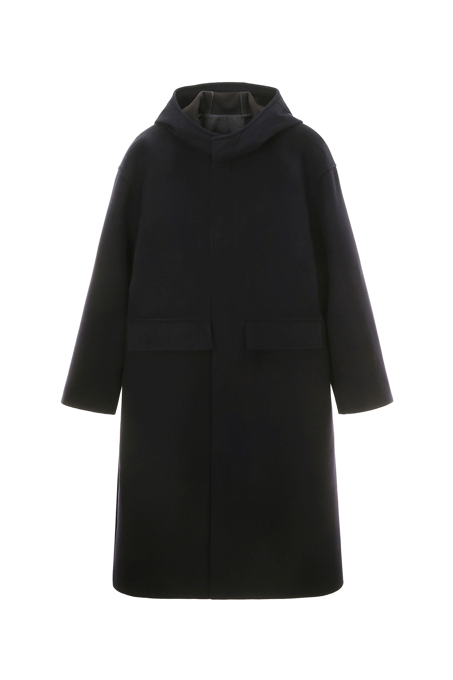 Cashmere Hooded Coat Men [Navy]