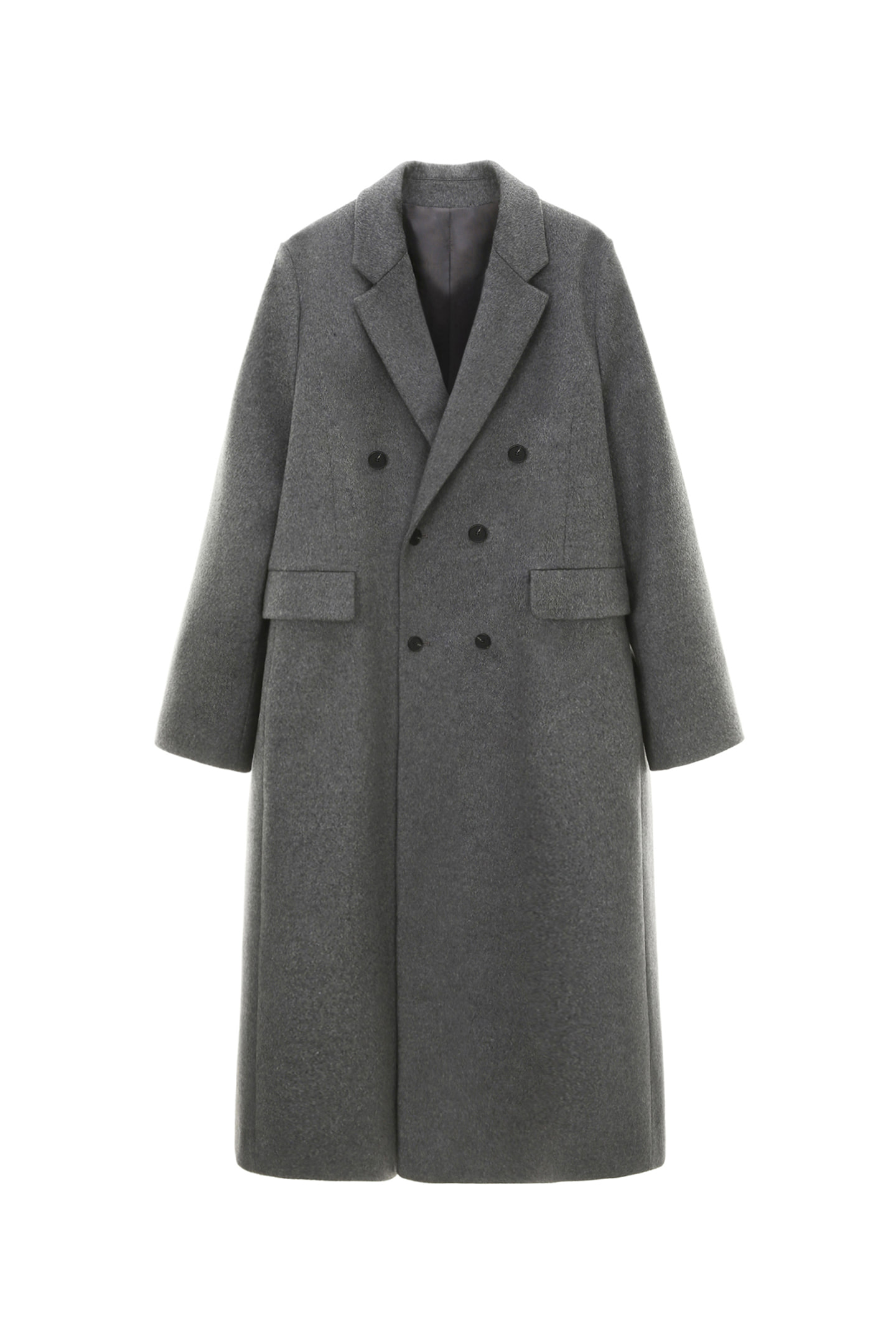 Cashmere Double Coat Men [Charcoal Gray]