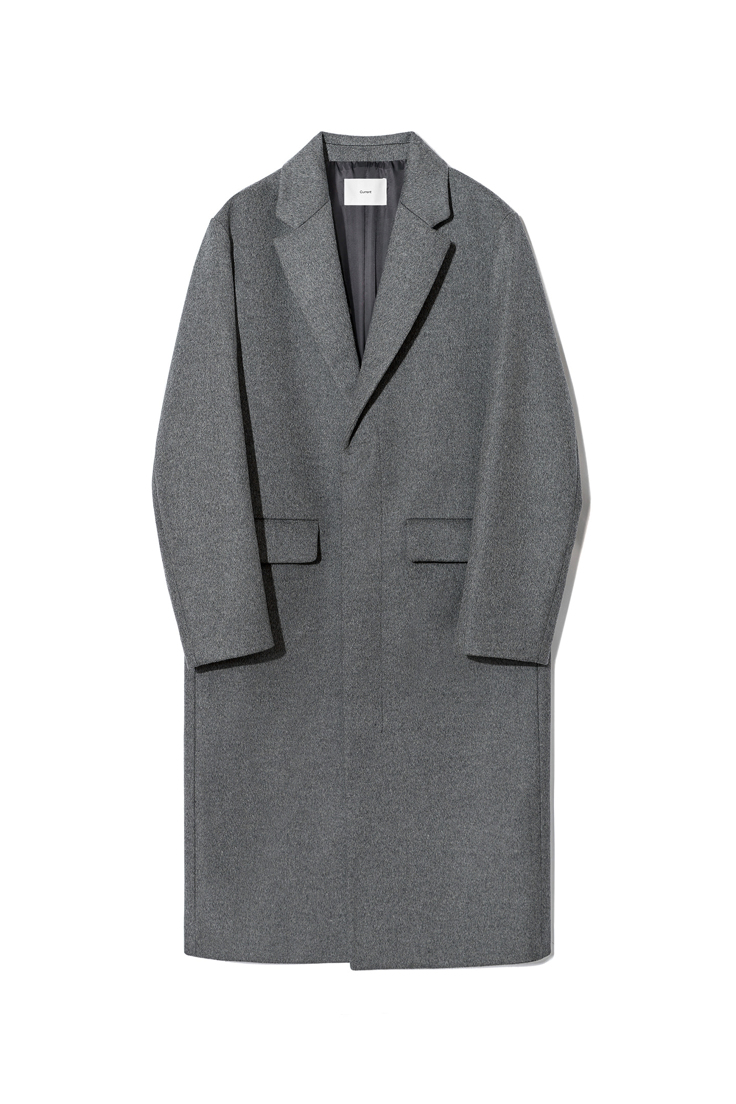 Cashmere Single Coat Men [Charcoal Gray]