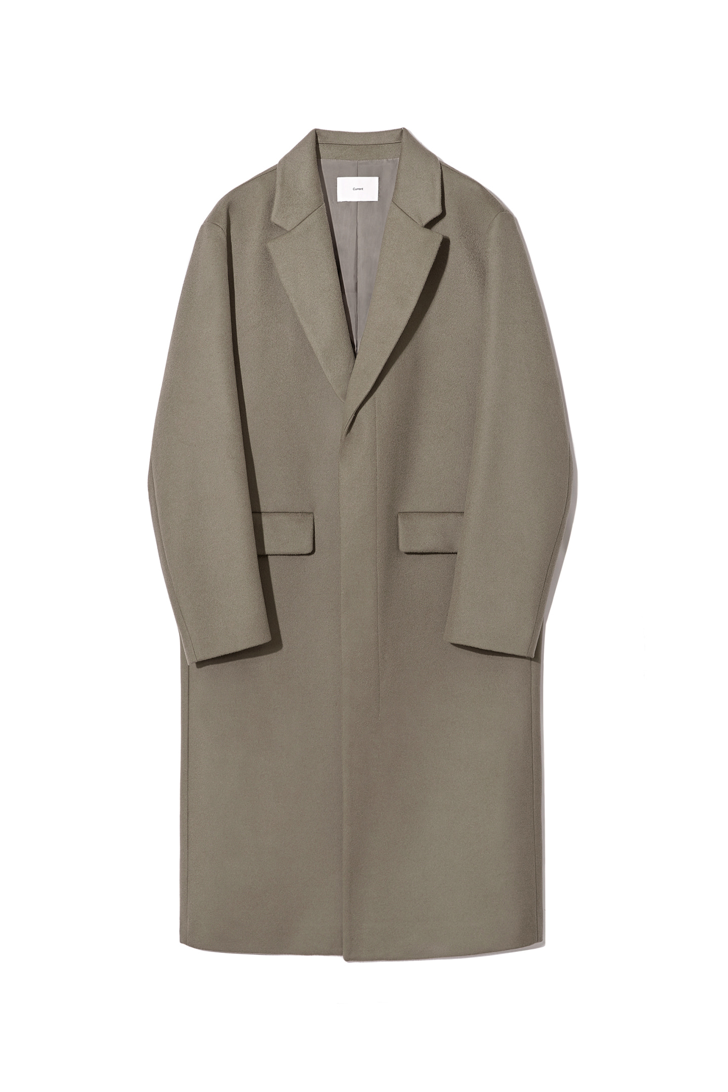 Cashmere Single Coat Men [Khaki Beige]