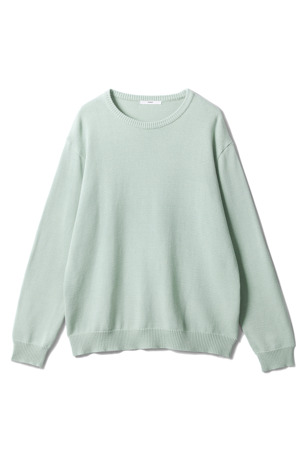 Cotton Round Knit Men [Light Green]
