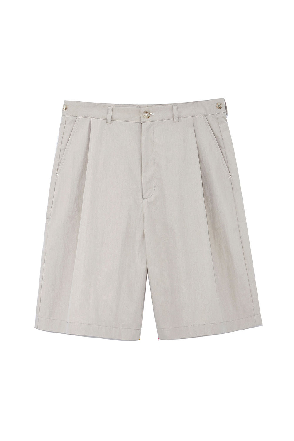 One Tuck Bermuda Pants Men [Beige]