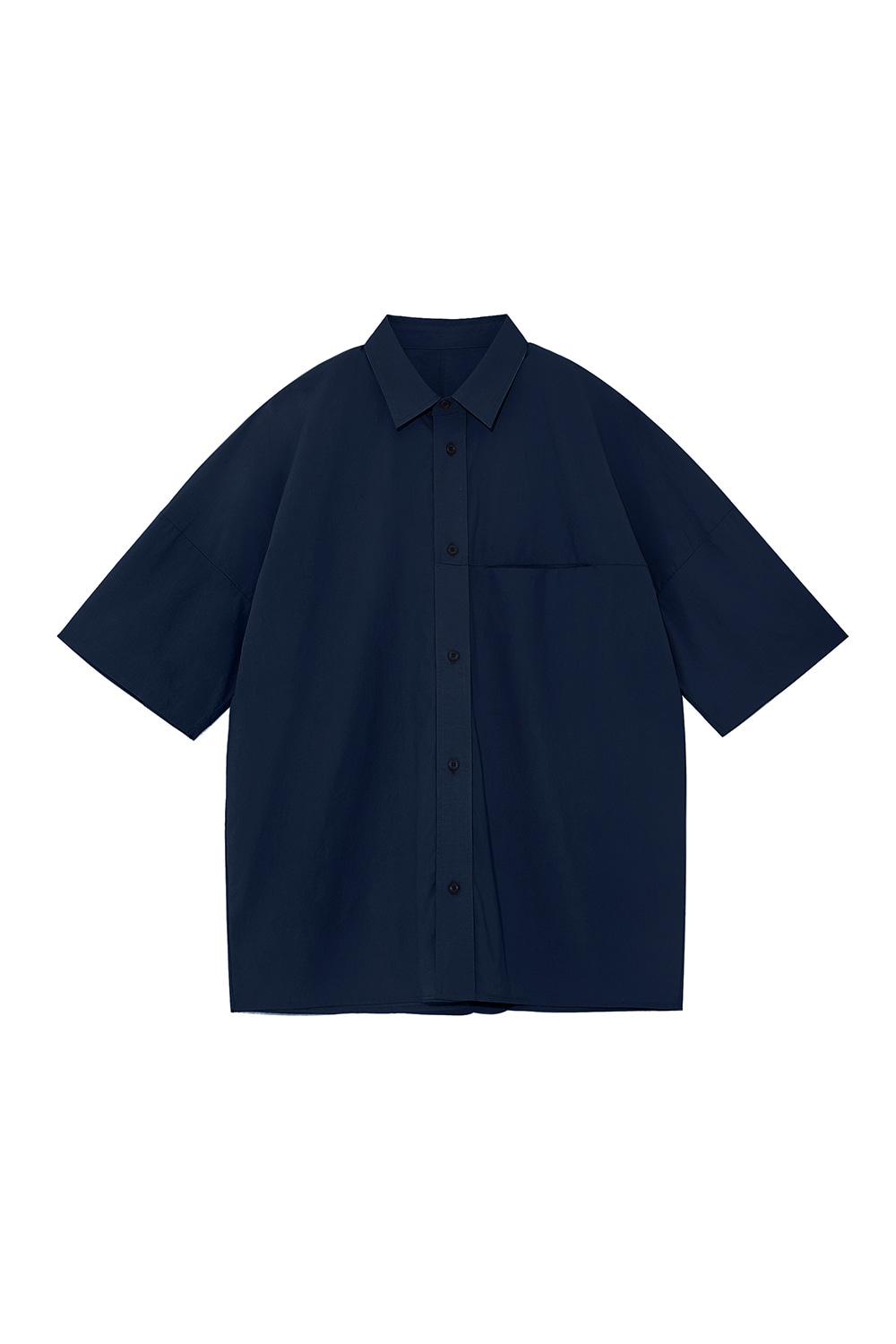 Oversized Box Shirts Men [Navy]