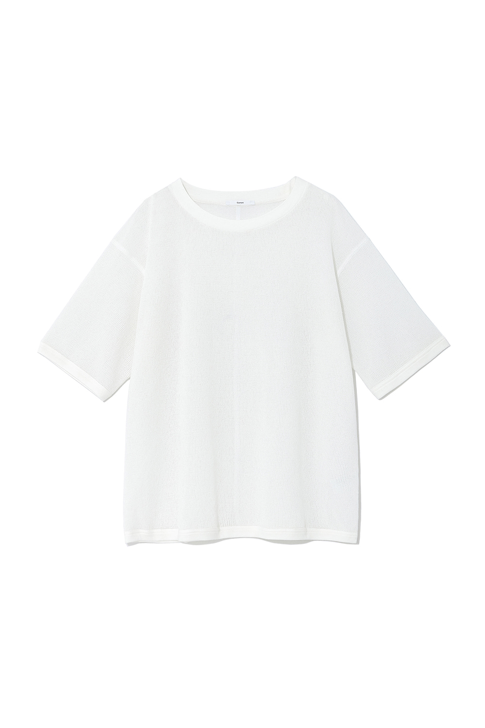 Oversized Mesh Tee Men [White]