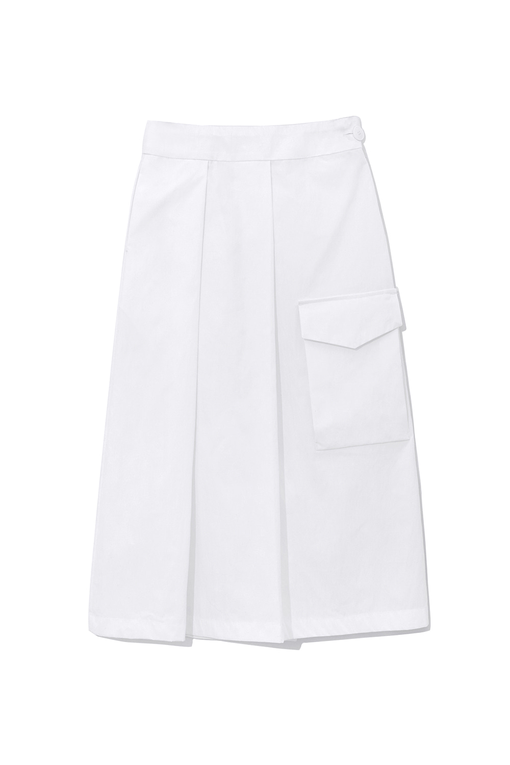 Pleats Pocket Skirts Women [White] -40%