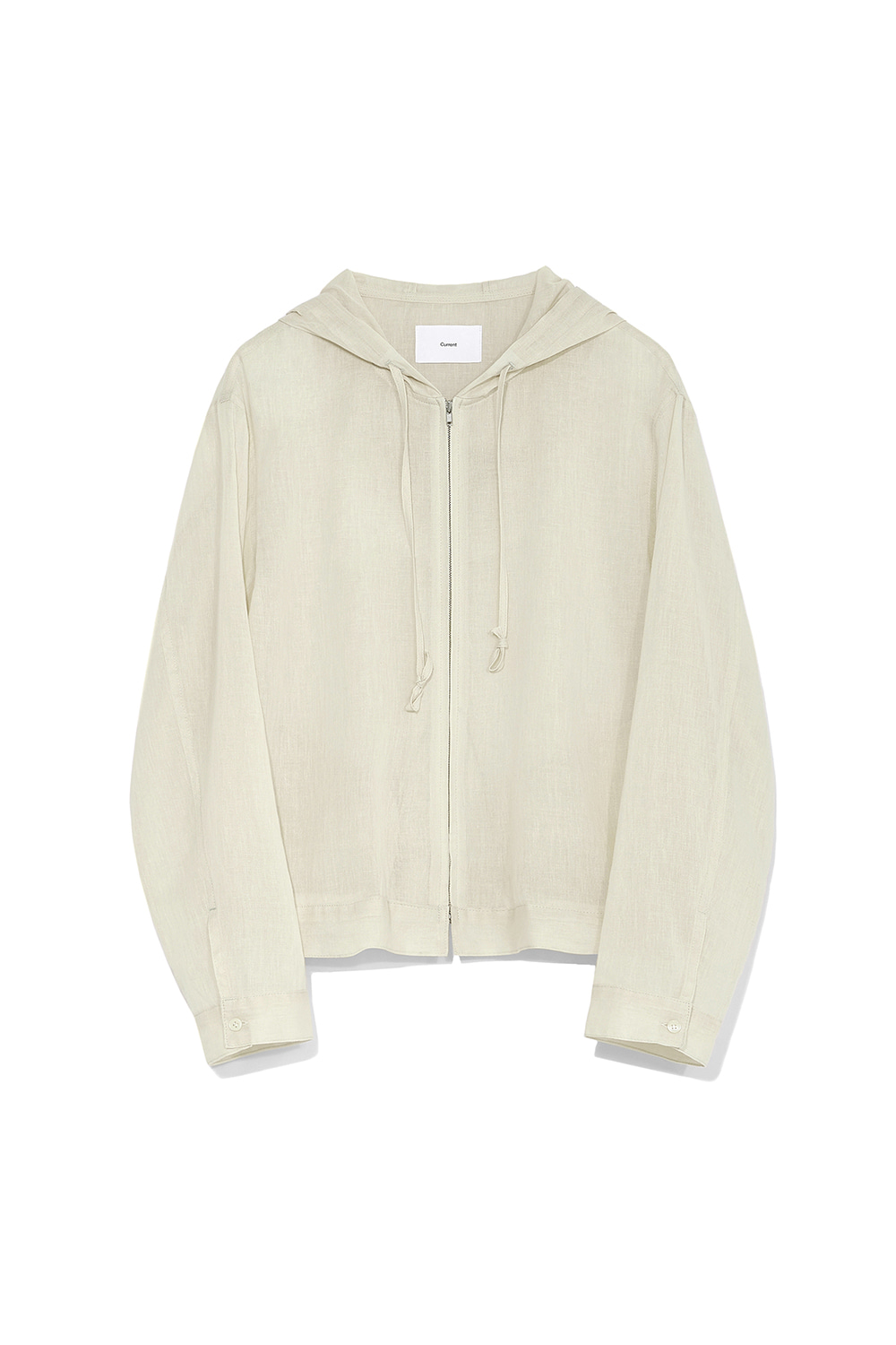 Light Hood Zip Up Women [Beige] -40%