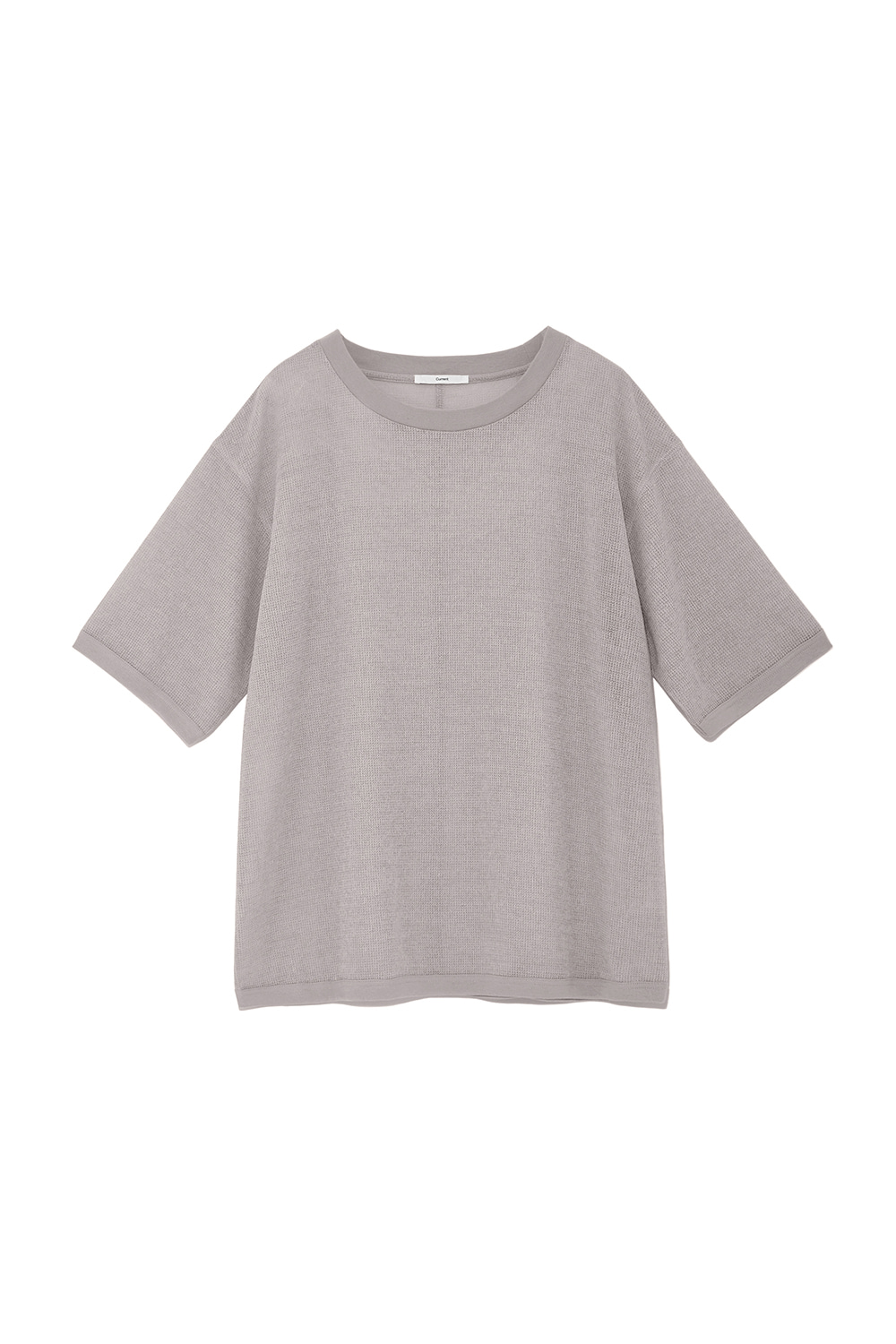 Oversized Mesh Tee Men [Light Gray]