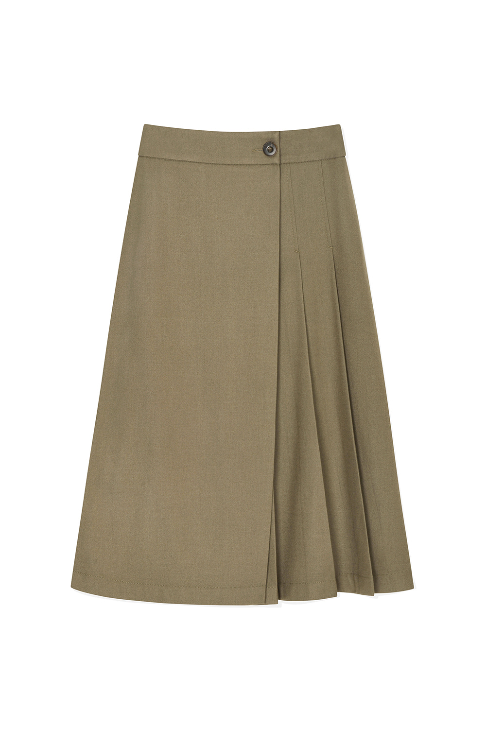 Wool Pleats Wrap Skirts Women JA [Sand Beige] -10%