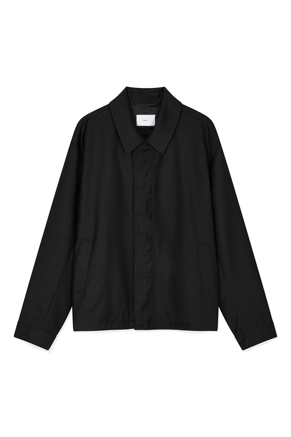 Twill Zip-Up Jacket Men JA [Black]