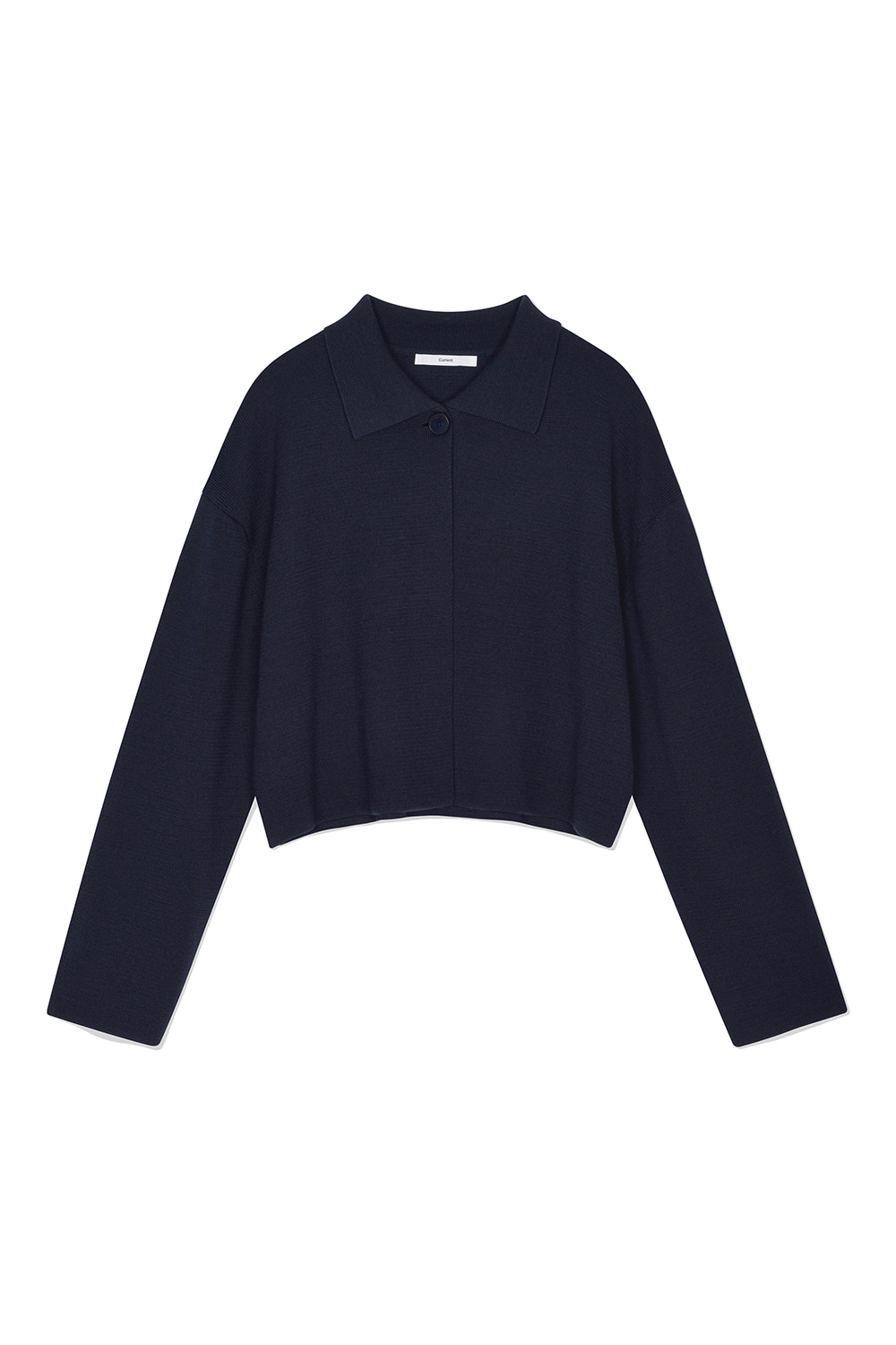 Wool Cropped Knit Cardigan Women JA [Dark Navy]