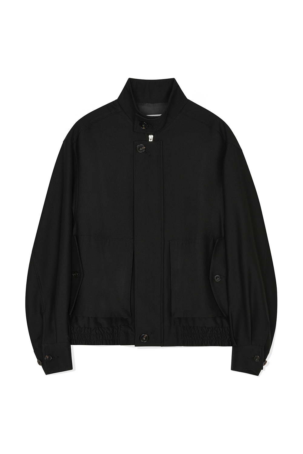 Wool Harrington Jacket Women JA [Black] -10%