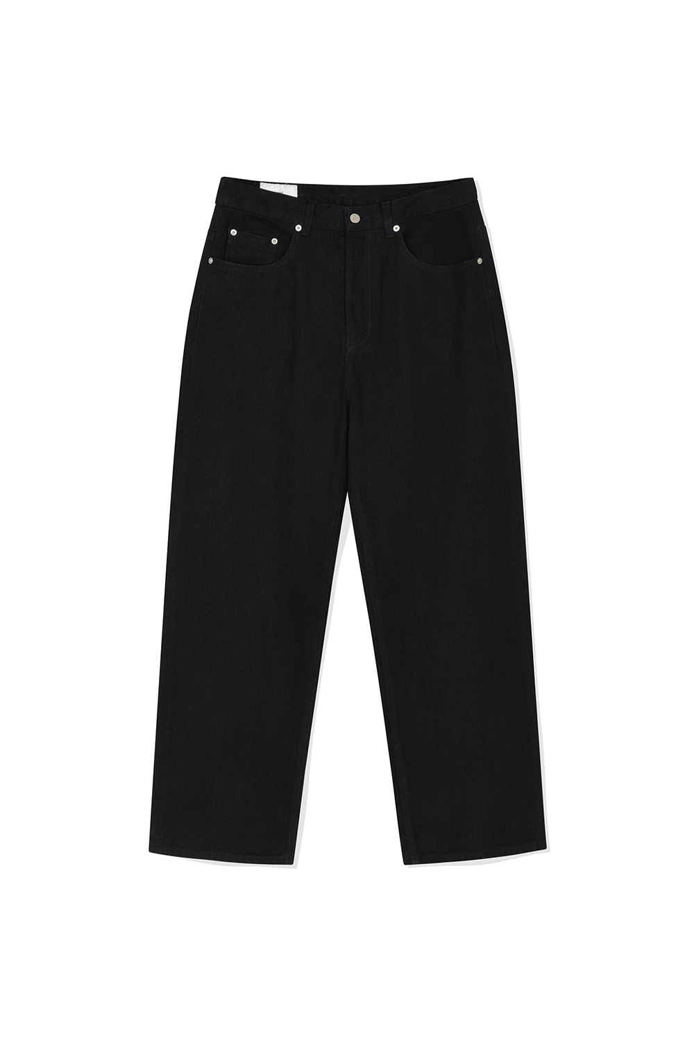 Wide Denim Pants Men JA [Black]