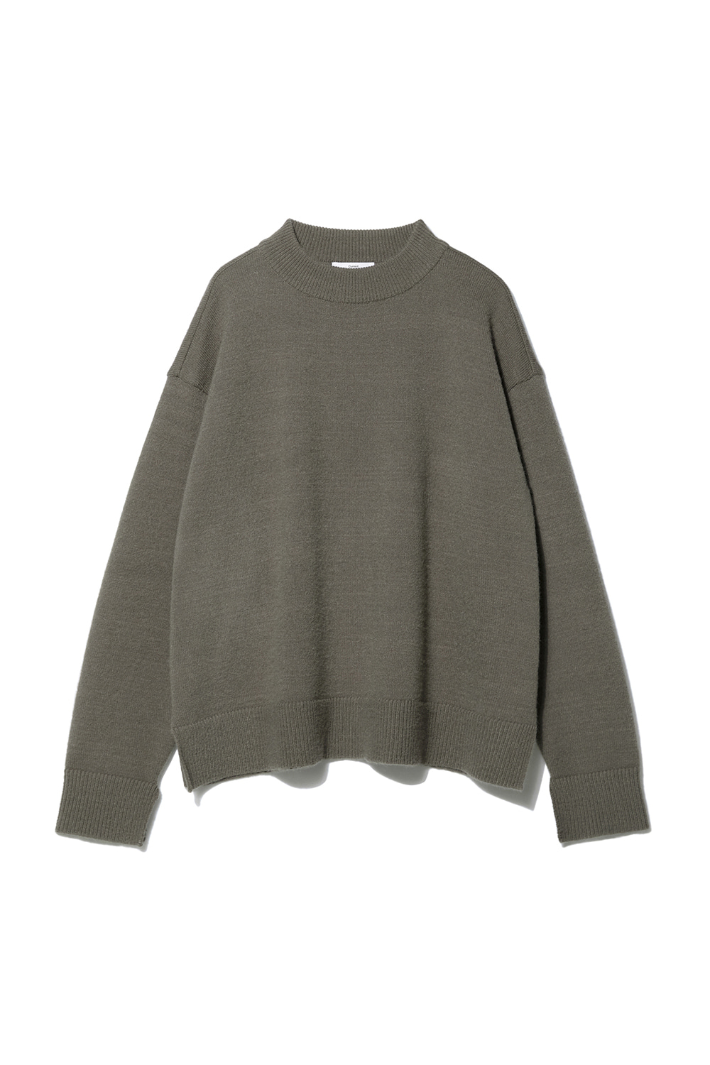 Mock Neck Knit Men JA [Taupe]