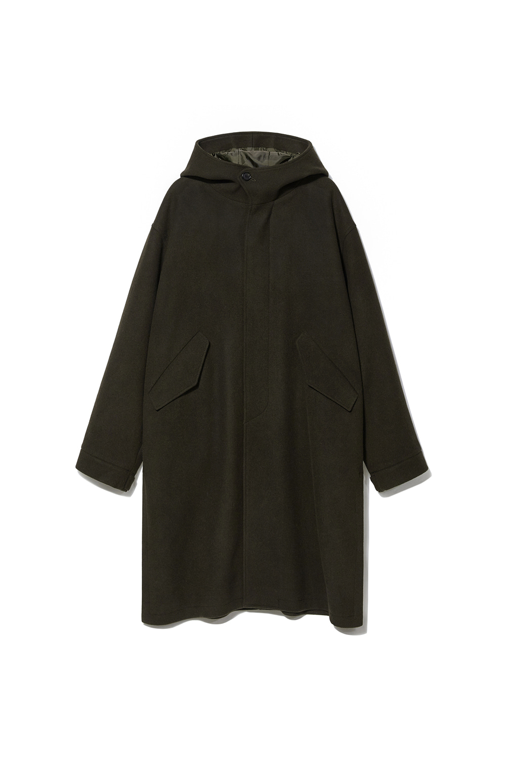 Wool Hooded Coat Men JA [Khaki]