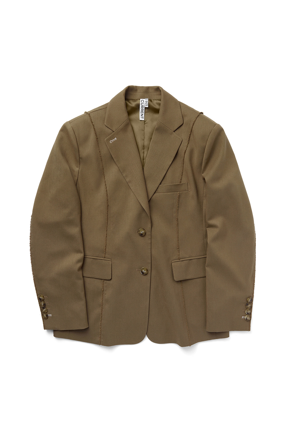 CUT OFF SINGLE BLAZER KS [CAMEL]
