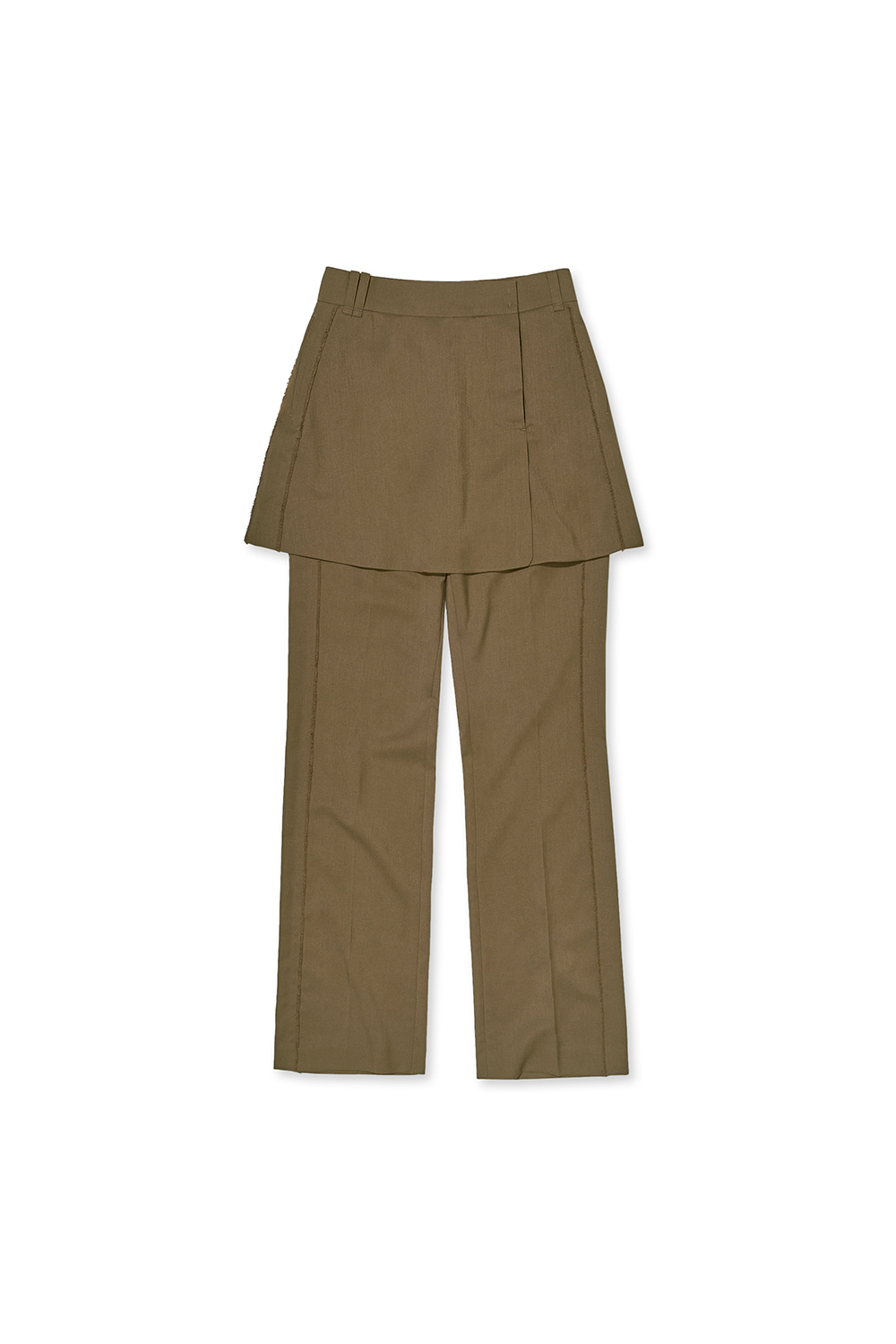 CUT OFF LAYERED PANTS KS [CAMEL]