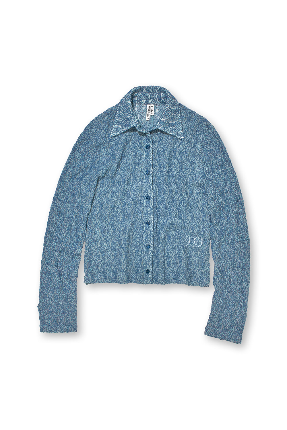 LACE SLIM SHIRT KS [FRENCH BLUE]