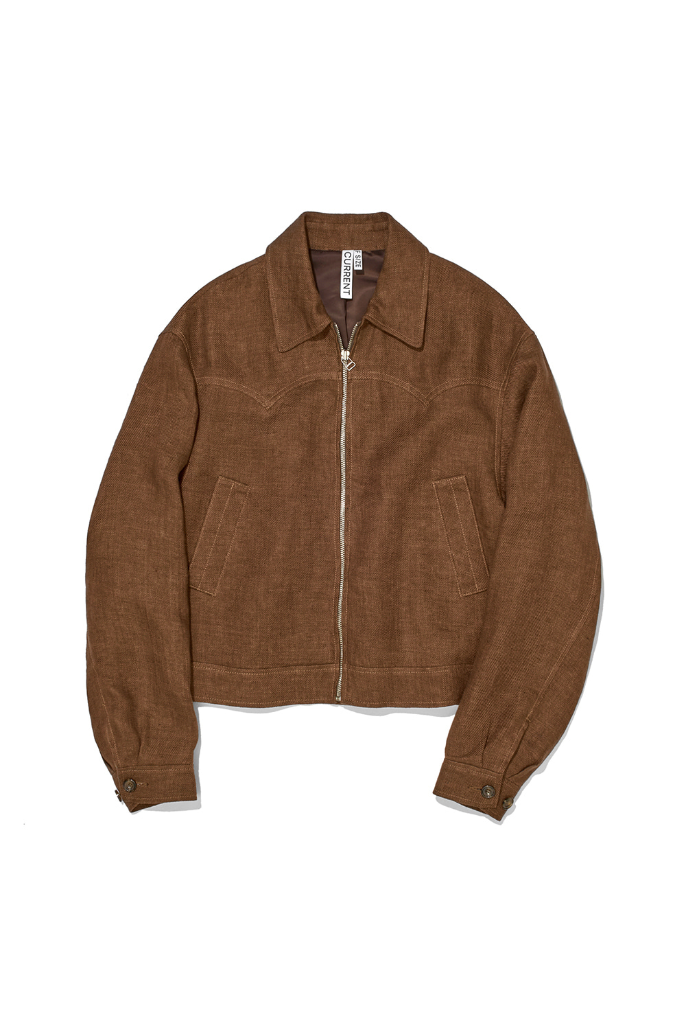 LINEN WESTERN JACKET KS [BURNT ORANGE]