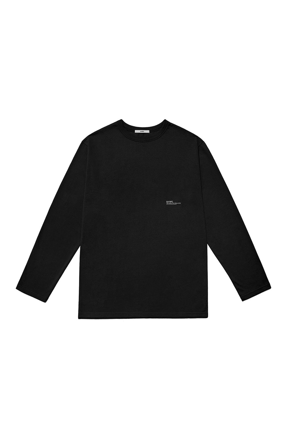 CURRENT LOGO LONG SLEEVE MAN [BLACK]