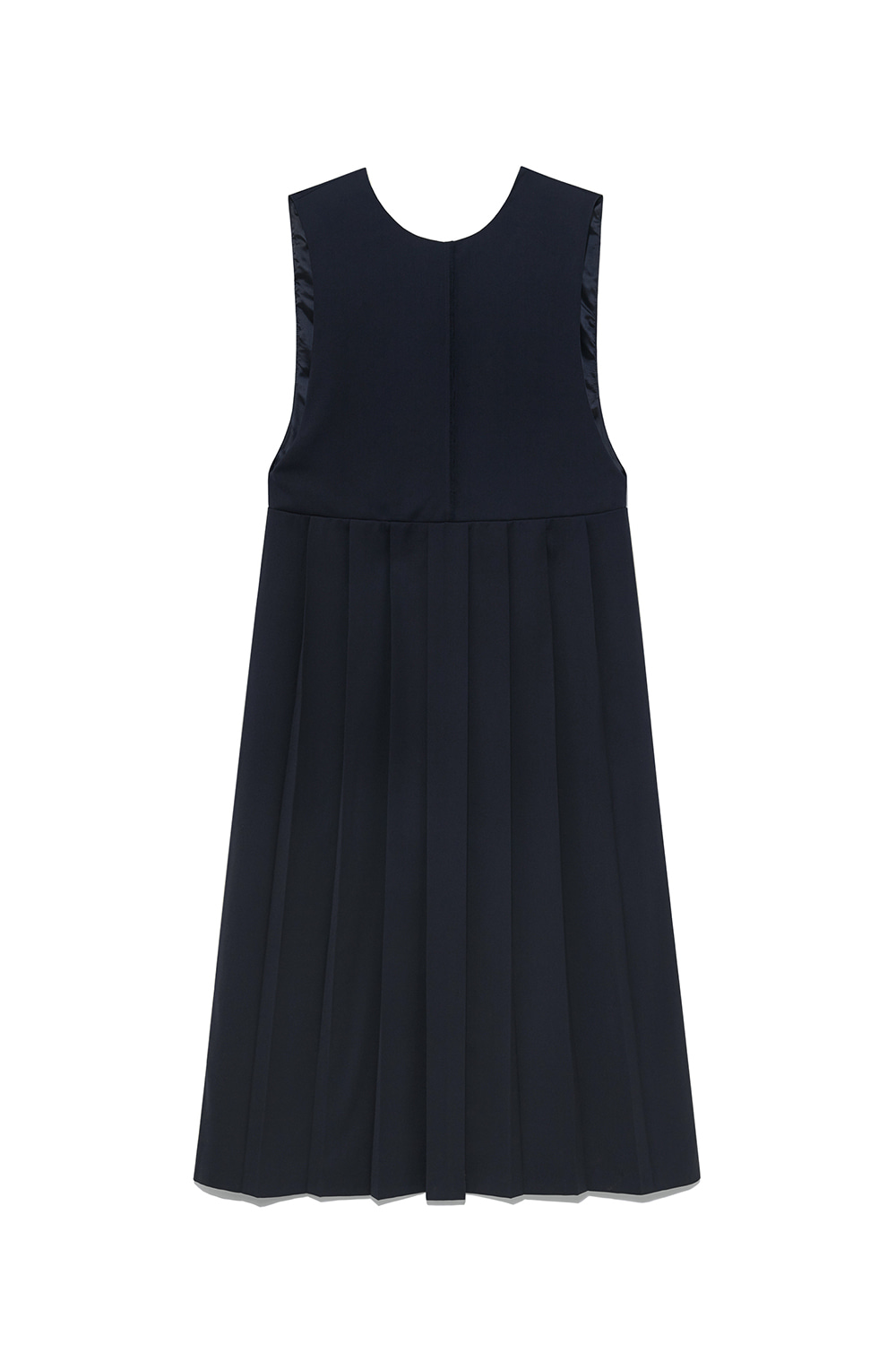 Pleat Dress Women [Navy]