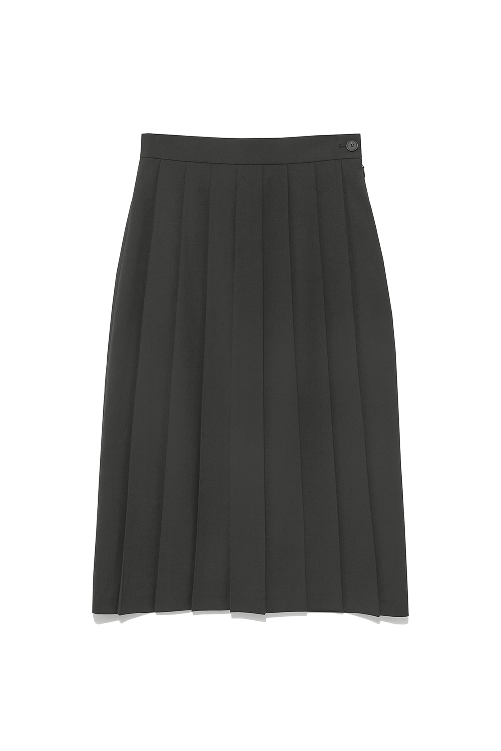 Unbalance Pleats Skirt Women [Grey]