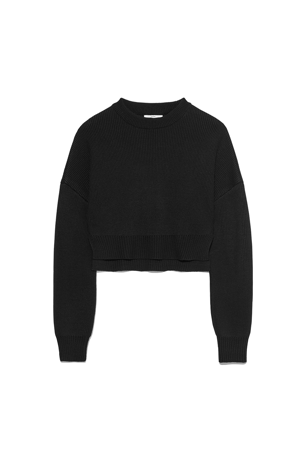 Slit Knit Crewneck Women [Black]