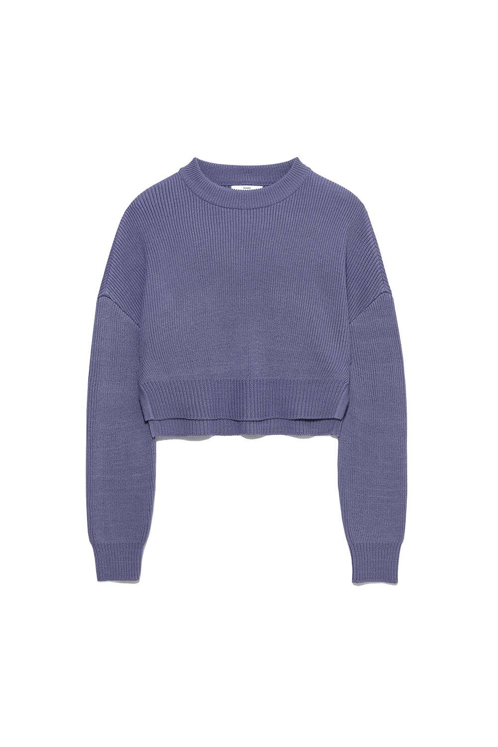 Slit Knit Crewneck Women [Purple]