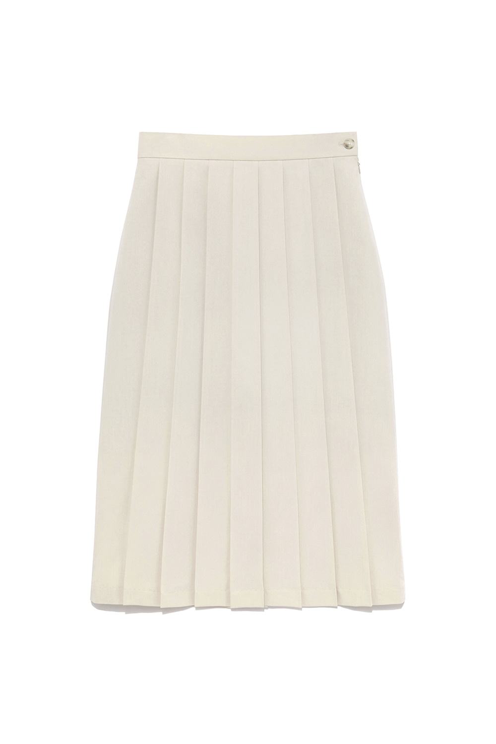 Unbalance Pleats Skirt Women [Ivory]
