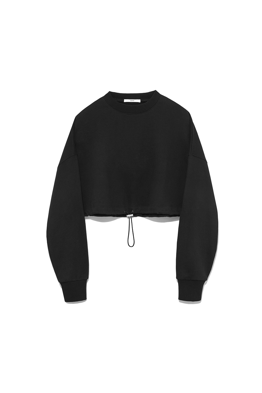 Crop String Sweatshirt Women [Black]