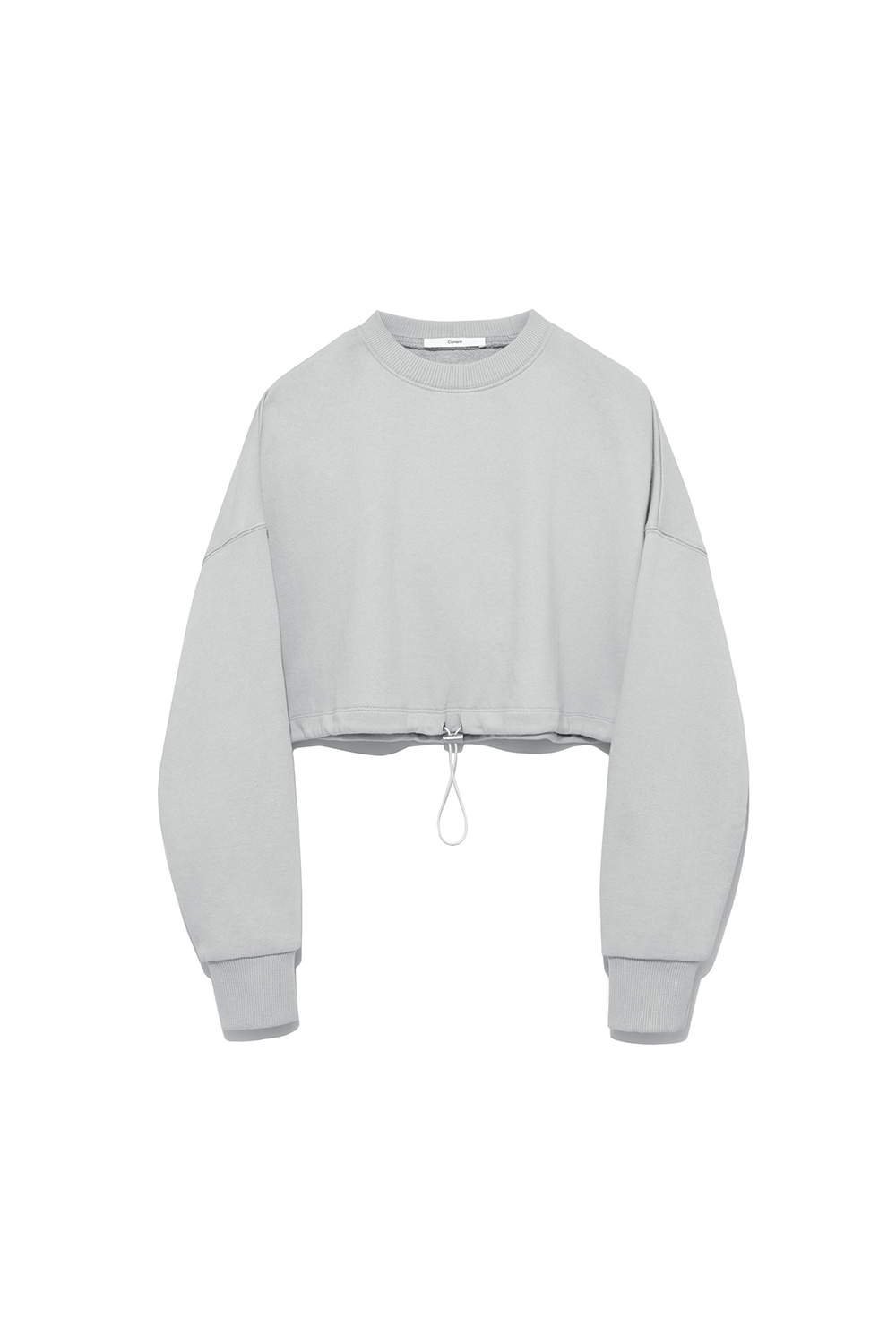 Crop String Sweatshirt Women [Light Grey]