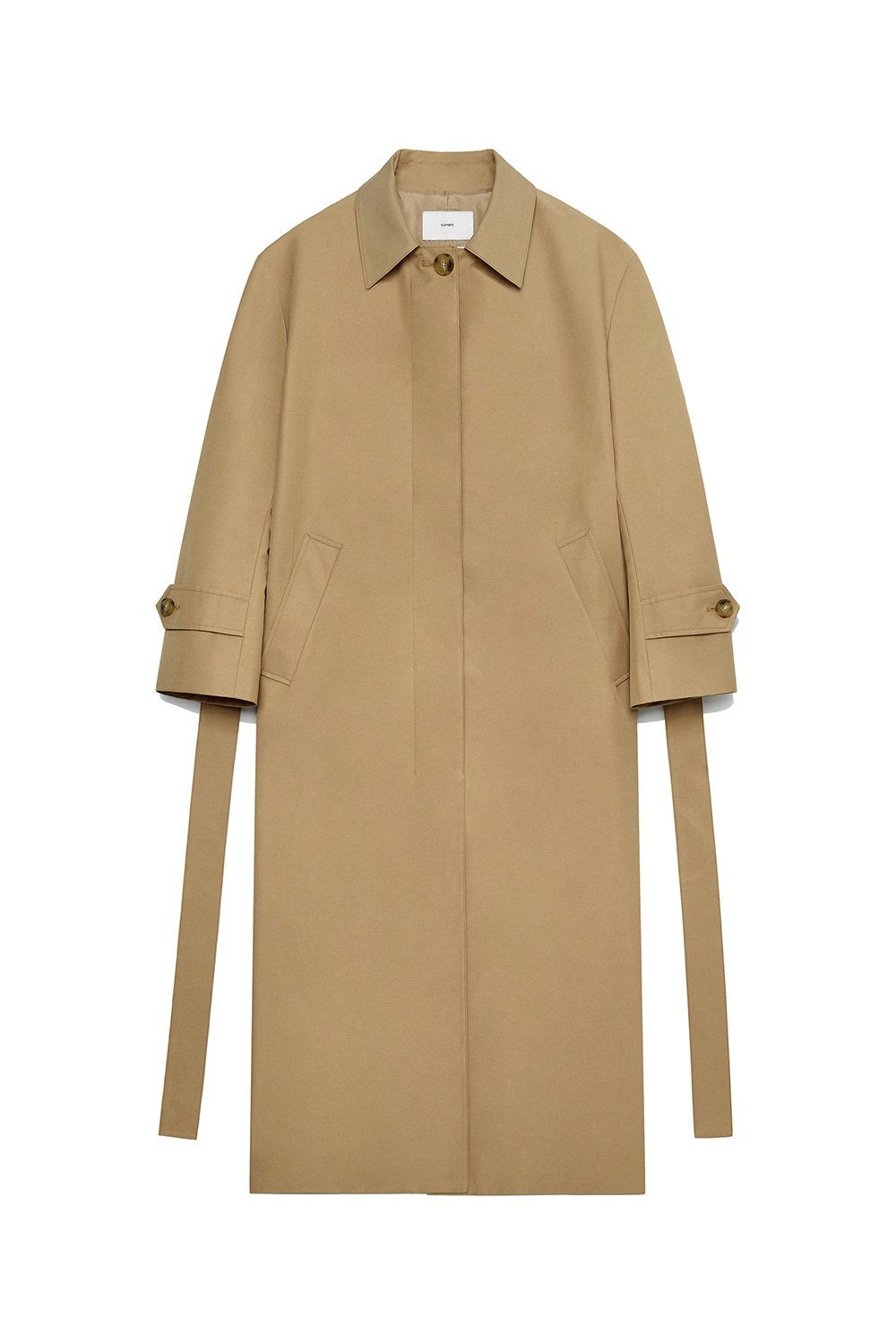 Long Single Trench Coat Women [Beige]