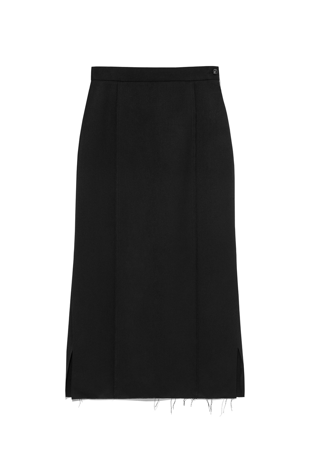 Side Slit Long skirt Women [Black]