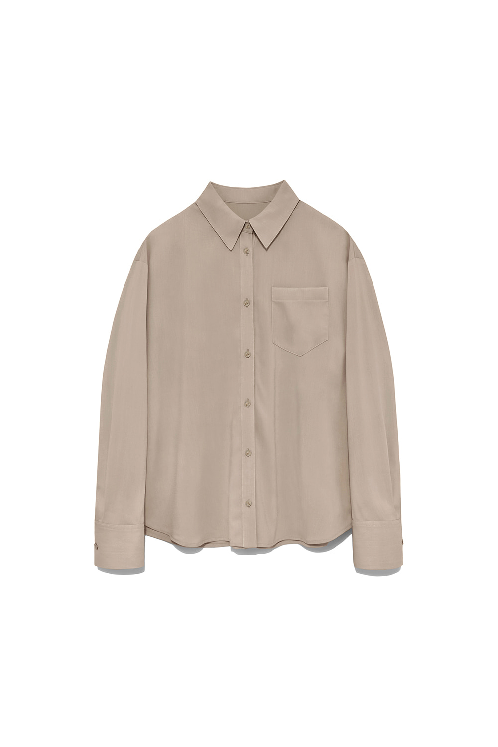 One Pocket Shirts Women [Dark Beige]