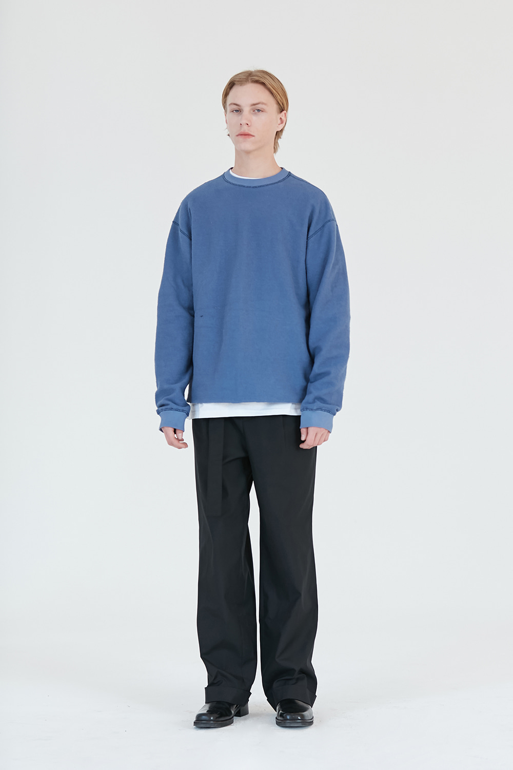 Reverse Sweatshirt Men [Pastel Blue]
