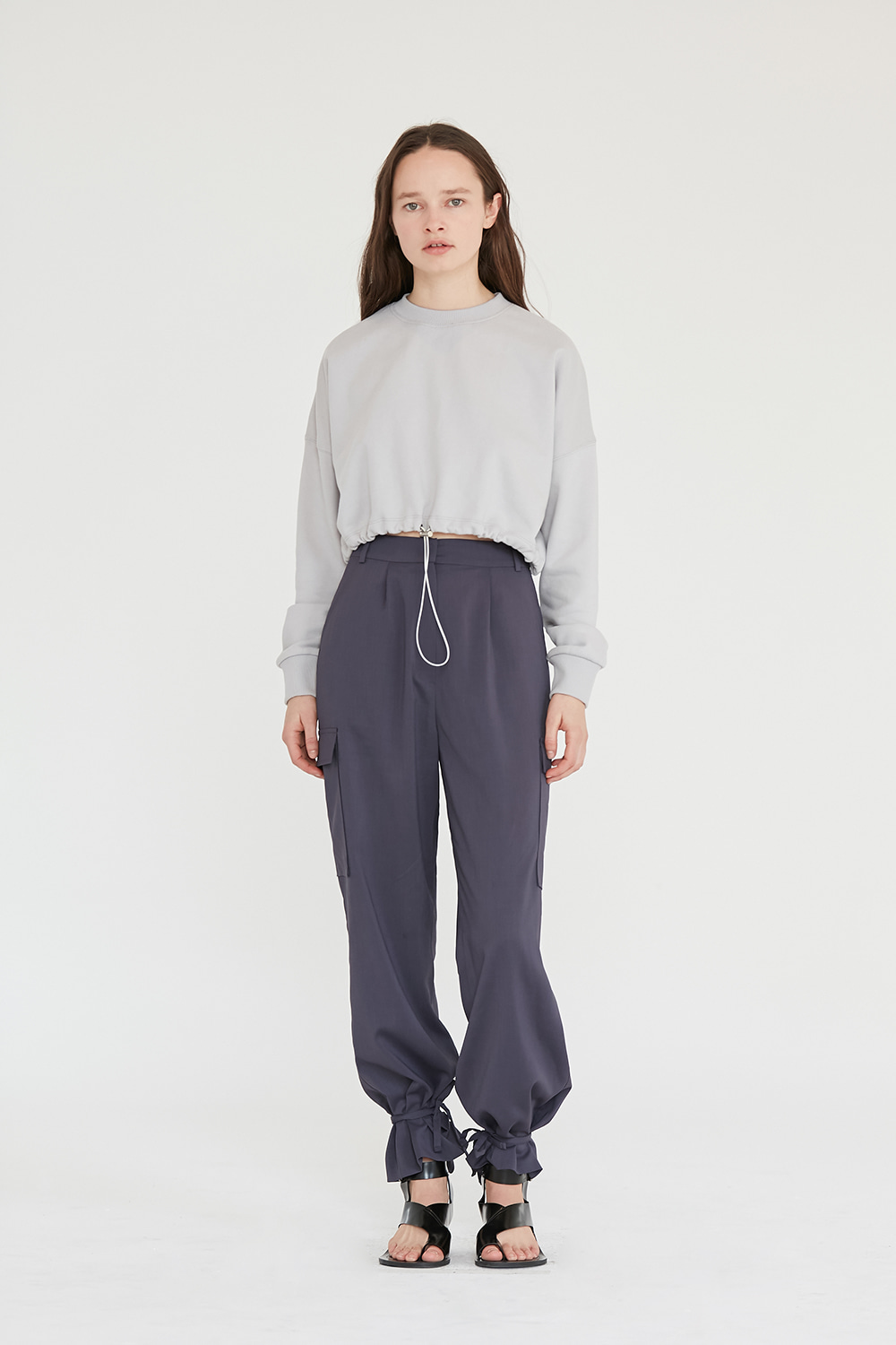 Cargo String Pants Women [Grey]