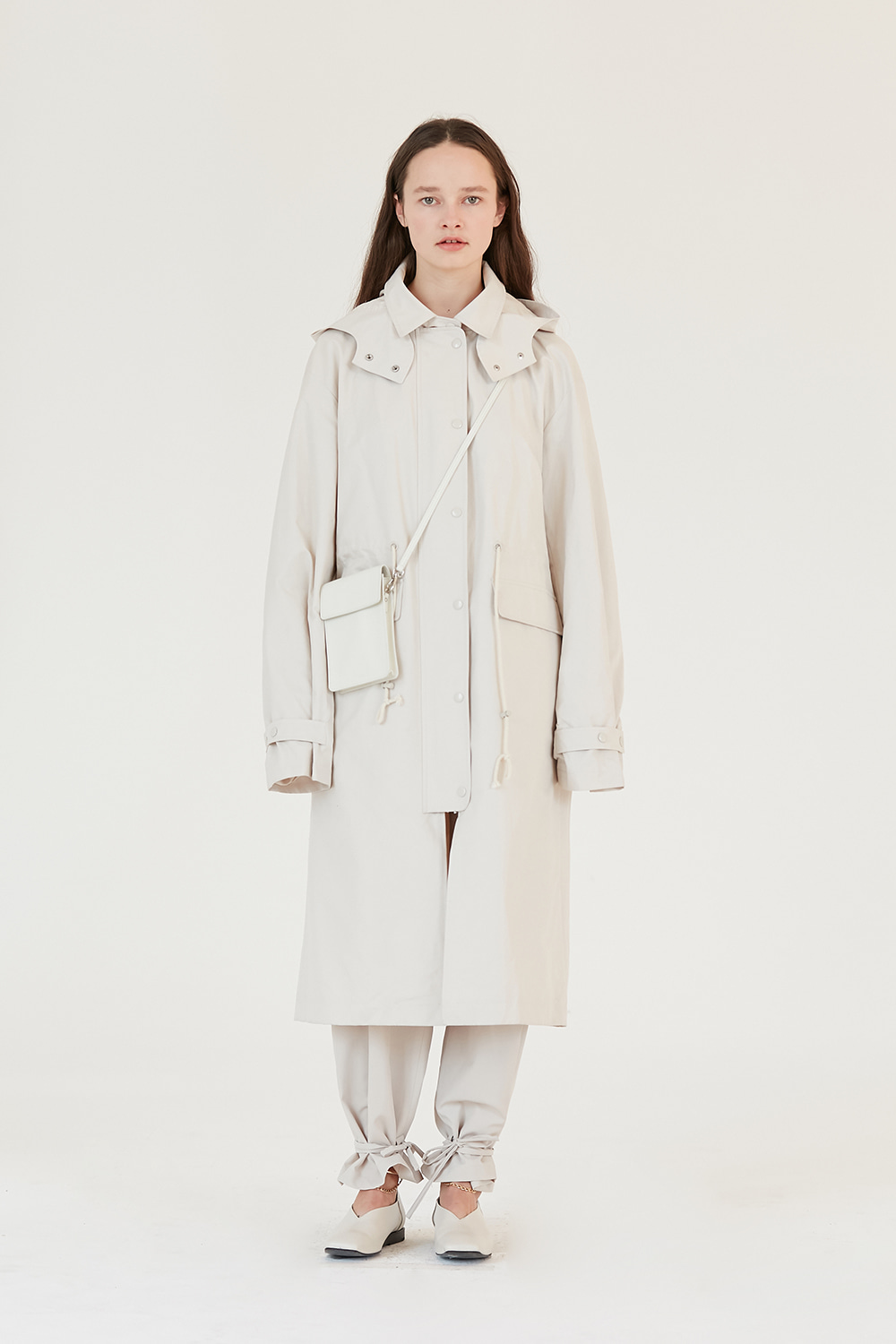 Hooded Coat Women [Ivory]