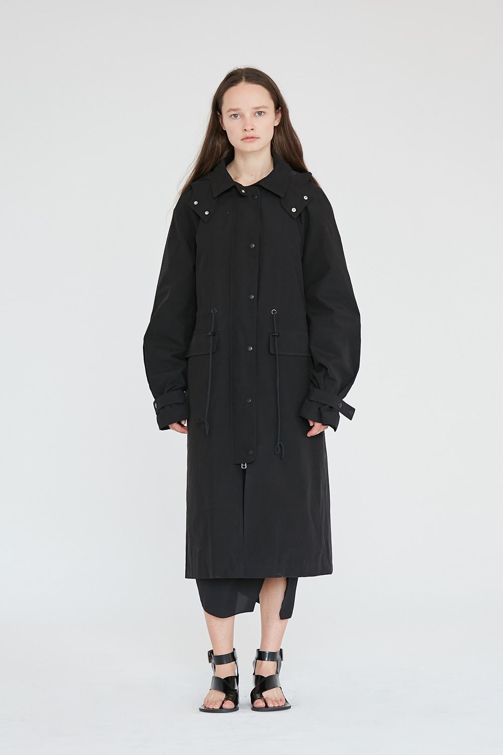 Hooded Coat Women [Black]